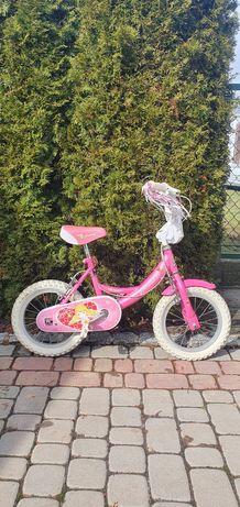 Rowerek dziecięcy dla dziewczynki + kask + ochraniacze + torebka.