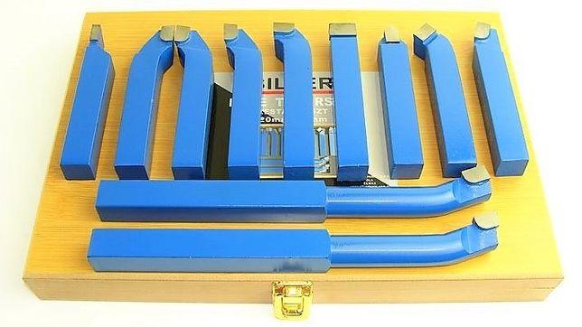 Komplet - Zestaw noży tokarskich nóż 10x10mm 11szt kpl
