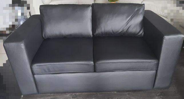 Kanapa + fotel piękny mały zestaw - eko skóra