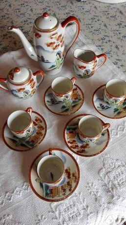 Serviço chá louça com pintura chinesa