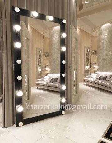 Зеркало напольное , зеркало с лампочками в комплекте!