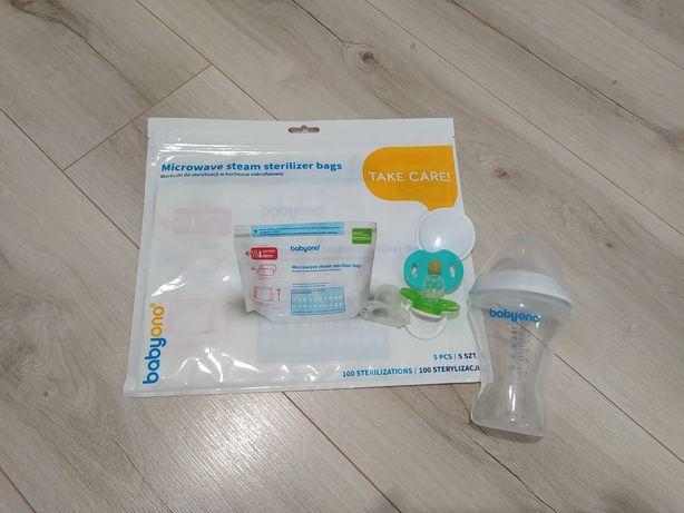 Пакети нові для стерелізації у мікрохвильовці 5 шт в упак  і бутилочка