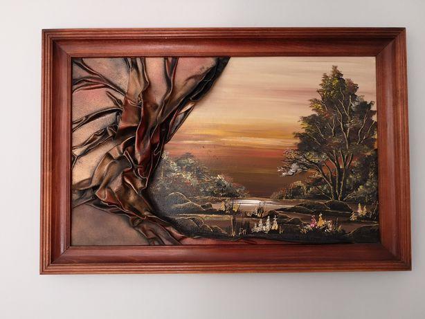 Obraz olejny 90x60 pejzaż