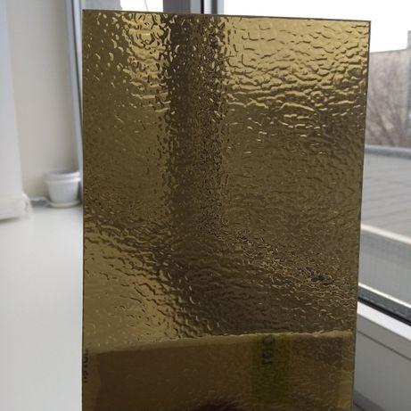 Поликарбонат колотый лёд/шагрень, прозрачный и бронза, PALSUN Израиль