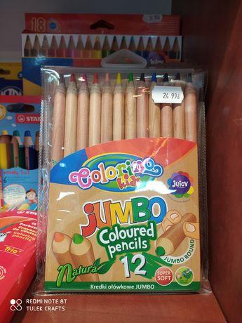 Kredki ołówkowe JUMBO Colorino Kids, nietoksyczne 12  kolorów