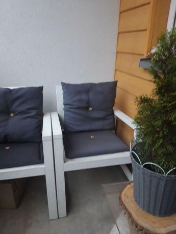 Ikea applaro  2 fotele krzesła ogrodowe z poduchami