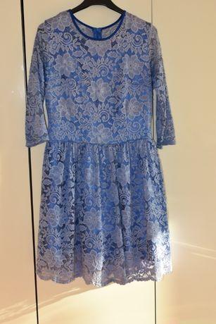 Chabrowa koronkowa sukienka roz.42