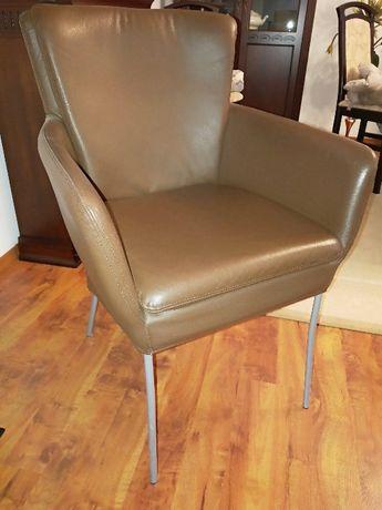 Skórzane krzesło -fotel