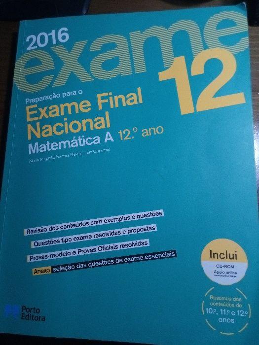 3 Livros Preparação Exame Matemática A / Macs Ribeira Seca - imagem 1