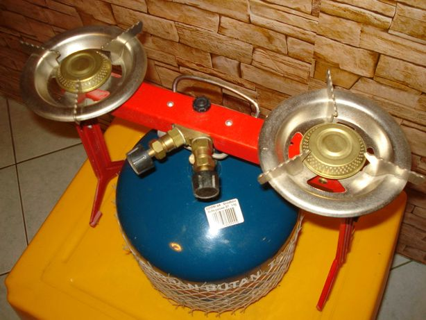 Kuchenka turystyczna ASIA 2 gazowa  2 - palnikowa + butla 3kg