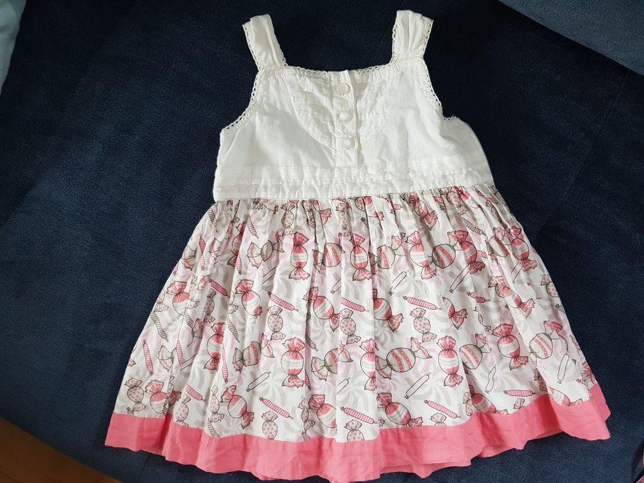 Bawełniana sukienka dla dziewczynki 80 Kowale - image 1