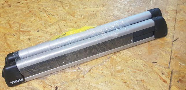 bagażnik dachowy na narty SKODA SUPERB III (OEM + THULE)