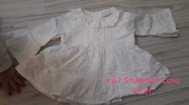 Sukienka r.62/68 haft angielski stan idealny
