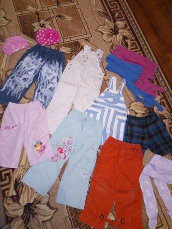 Одяг для дівчинки, 3-4р, штани, комбинезон, шапочки, плаття, босоножки