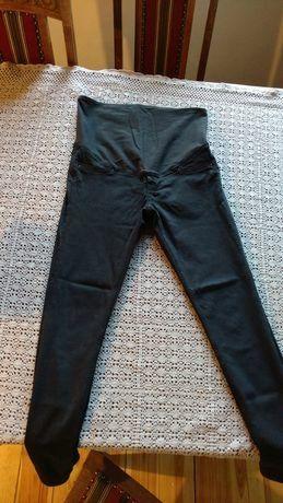 Czarne spodnie ciążowe H&M MAMA, rozm. 34 (S), stan bardzo dobry