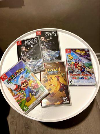 Игры для Nintendo Switch (Rayman, Mario, Bravely Default II)