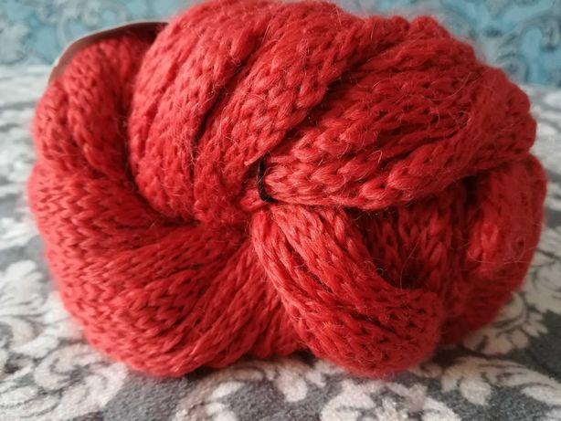 Пряжа альпака,нитки Amantani,нитки шерсть,нитки Yarns помаранчеві