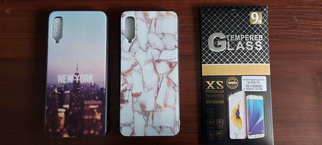 Nowe Etui szklane do Samsung A50 glass case + Szkło