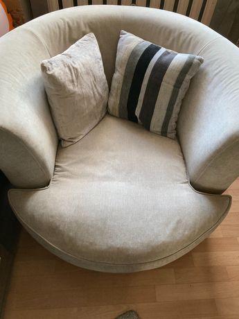 Fotel obrotowy szary
