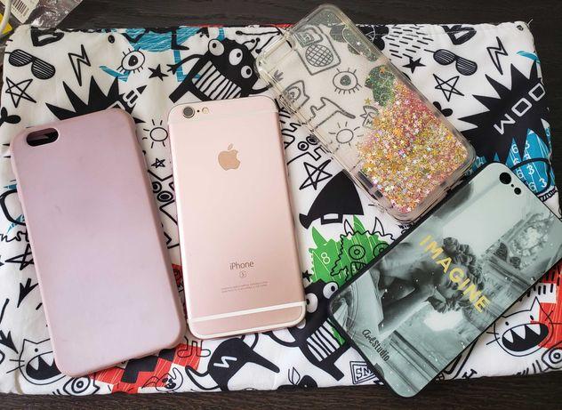 Apple iPhone 6s 64Gb Rose Gold + комплект и чехлы