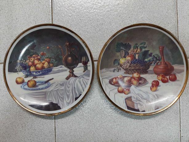 Pratos ornamentais cozinha banho a ouro 2