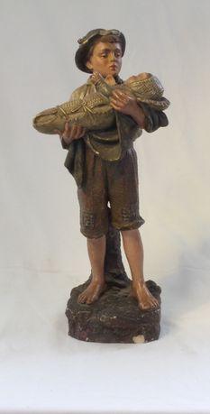 Boneco de louça policromada anos 30