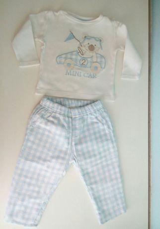 Conjunto de menino: calças e camisola, da Girândola - 9m, aprox. 75cm