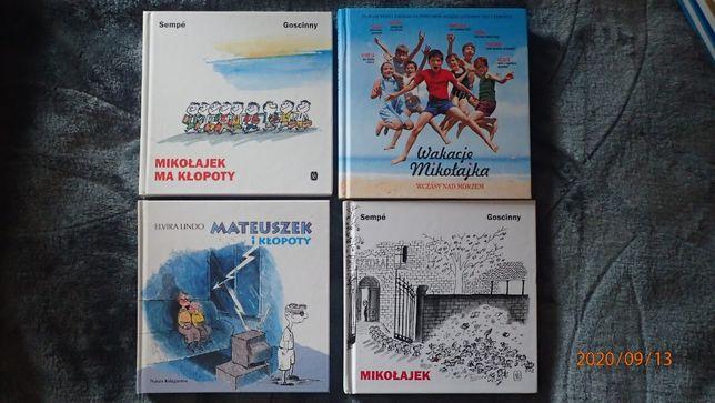Mikołajek, zestaw 3 książek + Mateuszek i kłopoty