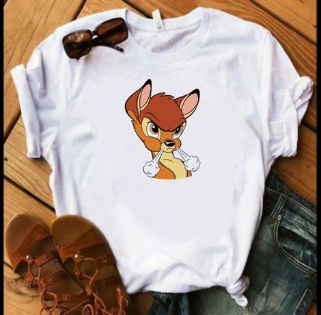 Koszulka bluzka t-shirt Disney postacie Bambi jelonek S M L XL XXL