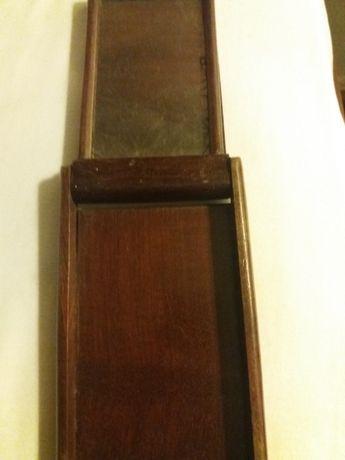 Espelho portatil muito antigo em mogno