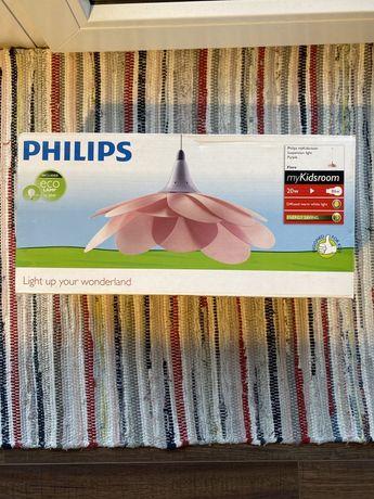 Lampa dziecięca wisząca kwiat Philips Massive Kico Fiore różowa
