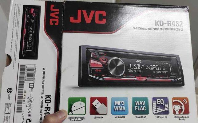 Auto Rádio JVC CD KD-R482 autorádio Android MP3 USB WMA etc