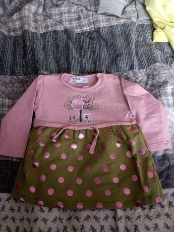 Sukienki niemowlęce dziewczęce 74/80