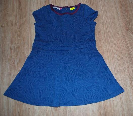 41-> GRUBSZA chabrowa sukienka RESERVED r.104 3-4Y