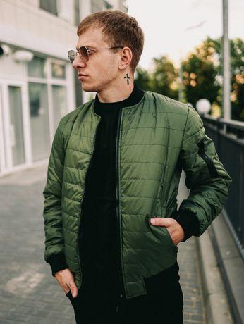 Мужская осенняя куртка с манжетом 2 цвета