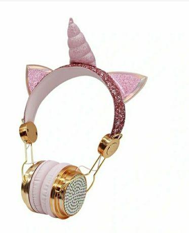 LOL jednorożc słuchawki złote