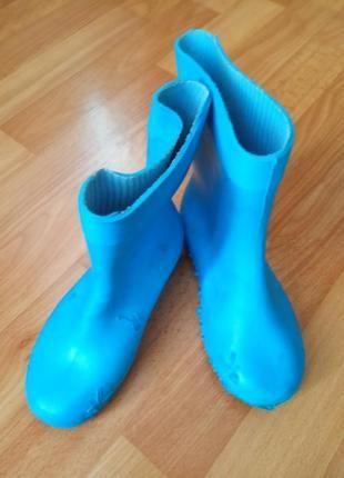 Резиновые сапоги детские синие