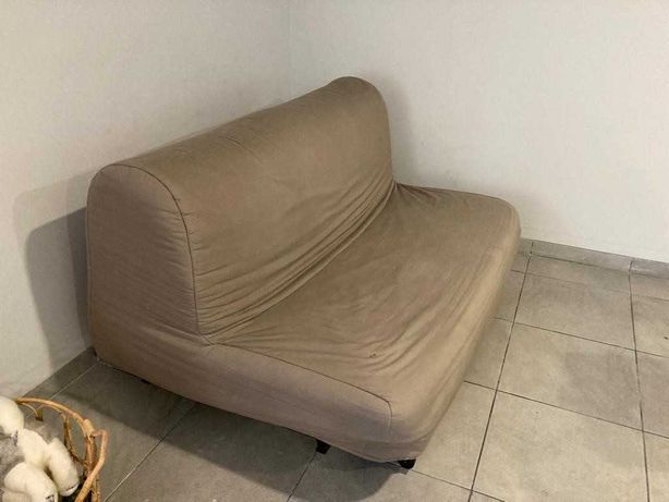 Sofá-cama IKEA LYCKSELE HÅVET 2 lugares com capa bege BOM ESTADO