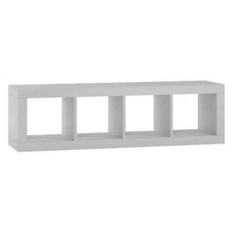 KALAX 1x4 / REGAŁ KOMOROWY szafka 148x38x42 cm / biały mat