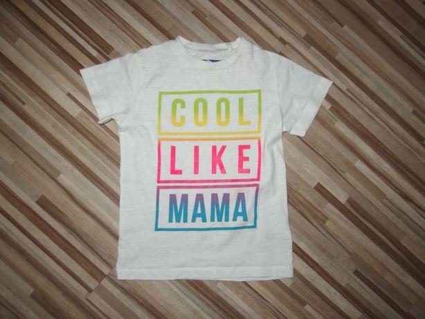 next bluzka koszulka dziecięca T-shit dziecięcy biały 104 cm 4 lat