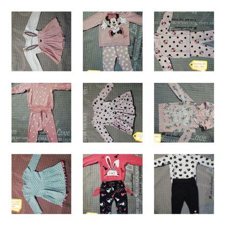 Ubranka dla dziewczynki 74-80 mega paka