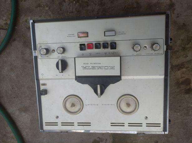 Комета 209 бабинный магнитофон