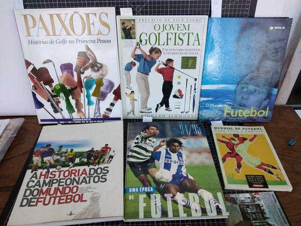 Livros sobre Futebol e Golfe coleção Os Magníficos 12 volumes