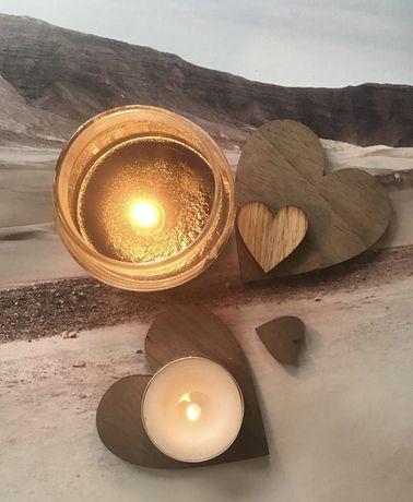 Сердечки деревянные, прищепки дл фото, подставка икеа, на подарок
