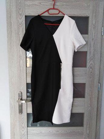 Sukienka mohito czarno-biała 38-40