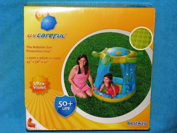 Basen dla dzieci z daszkiem Żółw firmy Bestway basenik kąpielowy