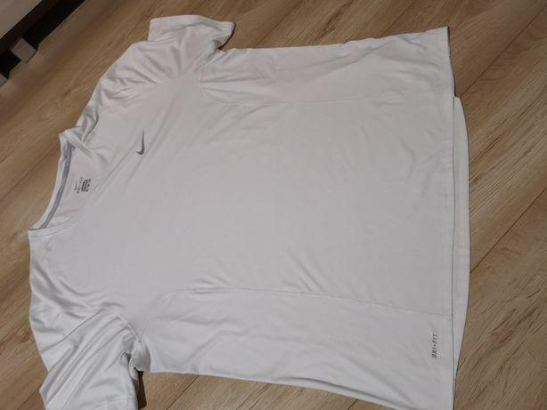 Koszulka bluzka krótki rękaw nike running dri-fit XXL męska biała