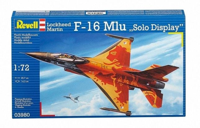F-16MLU 1/72 3980 Solo Display Kalkomania Revell