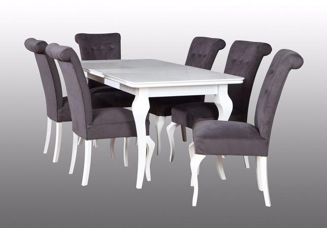 Krzesło tapicerowane szare -Ludwiki