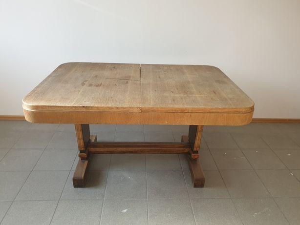 Stół drewniany, stary, do renowacji, rozkładany